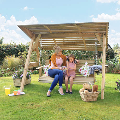 Miami 3 seater Swing Seat and Pad Package Stone