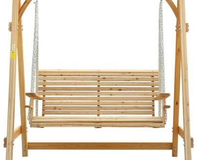 Outsunny 2-Seater Larch Wood Swing Chair Bench 01-0862 5060348505389