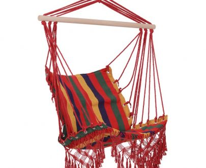 Outsunny Hammock Chair Swing Colourful Striped Seat Porch Indoor Outdoor Hanging Beach 5056029830697